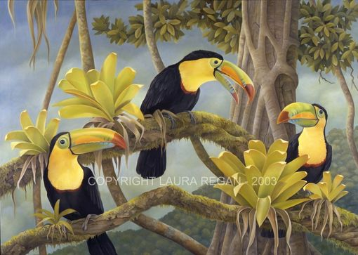 Custom Made Toucan Original Painting By Laura Regan