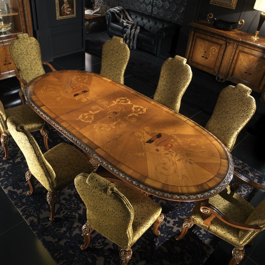 Custom high end dining room table by bernadette livingston for Expensive dining tables