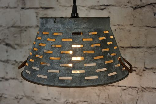 Custom Made Galvanized Bucket Light