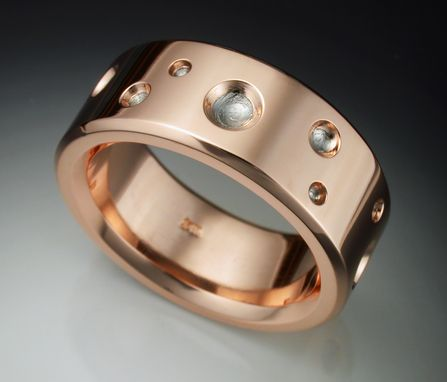 Custom Made 14k Rose Gold Ring With Meteorite Craters