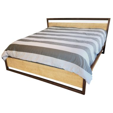 Custom Made Slanted Headboard Storage Bed