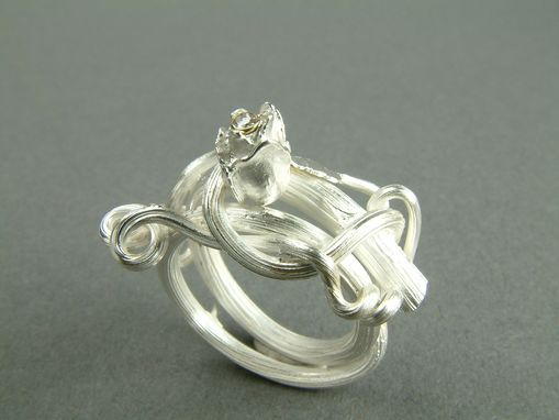 Custom Made Rose Ring W/ Rosebud