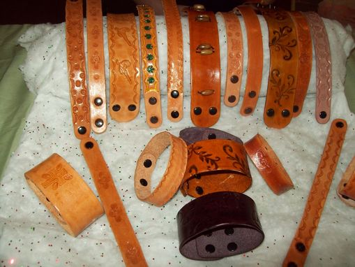 Custom Made Leather Wristbands