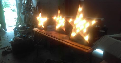 Custom Made Barnwood Star Lights Rustic