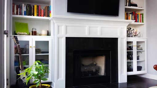 Custom Made Modern Seattle Wood Mantel