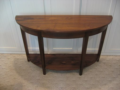 Custom Made Half-Elliptical Sofa Table