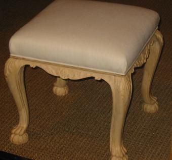 Custom Made Reproduction Carved Ottoman