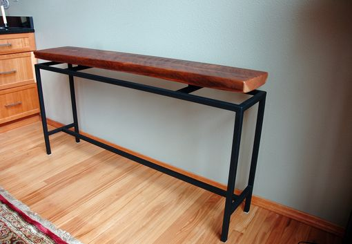 Custom Made Blakeley Floating Top Industrial Console/Hall Table