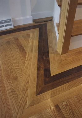 Custom Made Stairs With Inlaid Floor