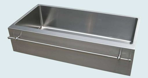 Custom Made Stainless Sink With Apron & Stainless Towel Bar