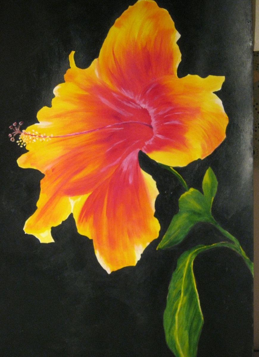 Custom Hawaiian Hibiscus Painting By Inspired Art Custommade
