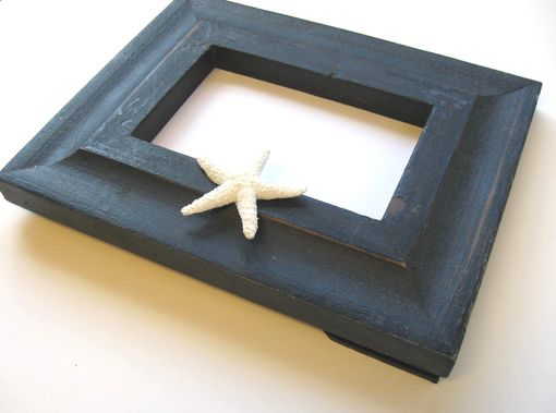 Custom Made Housewares Cottage Beach Black Photo Frame