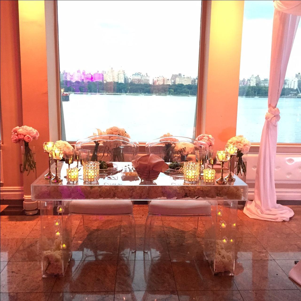 Buy a Hand Made Acrylic Bridal / Sweetheart Table. Clear Acrylic ...