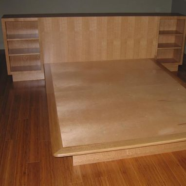 Custom Made White Oak Bed And Chest