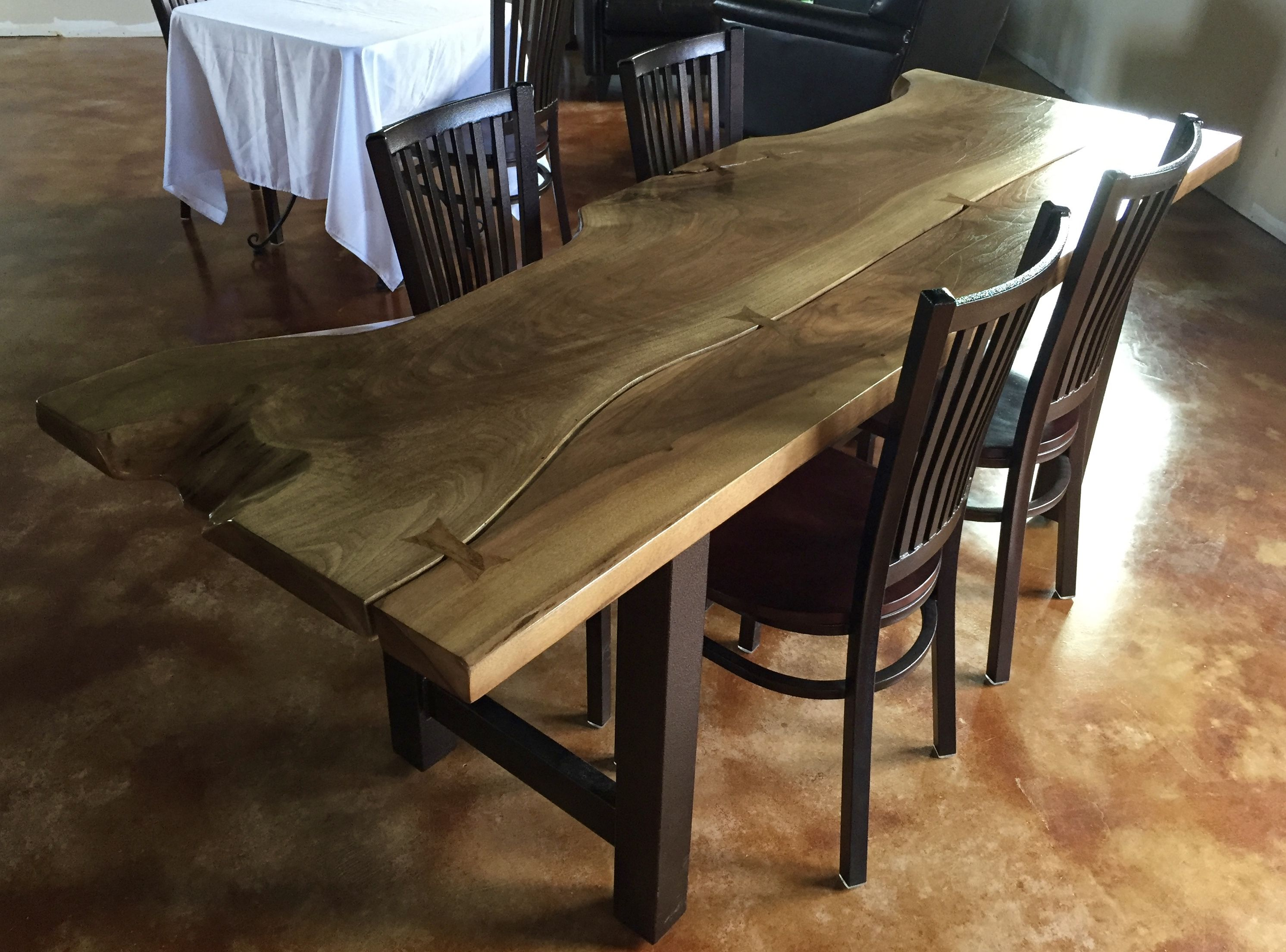 Custom Slab Wood Dining Table By Branches Furniture