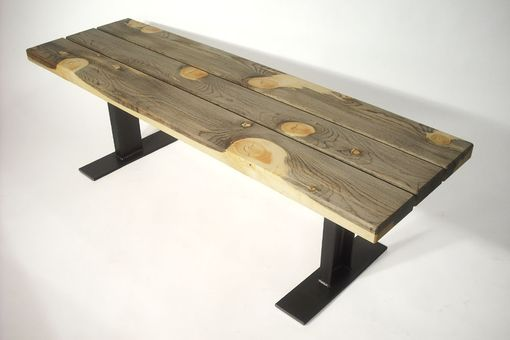 Custom Made .Blue Pine And Steel Channel Bench