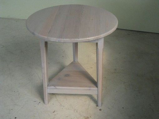 Custom Made 3 Legged Table In Old Oak