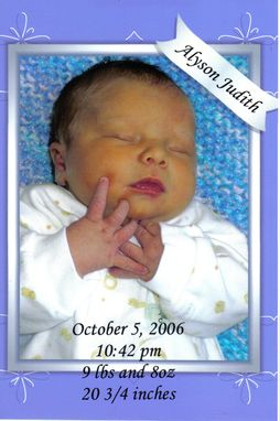 Custom Made Custom Birth Announcements And Wedding Invitations
