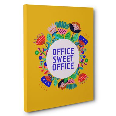 Custom Made Colorful Office Sweet Office Canvas Wall Art