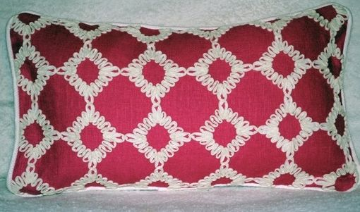 Custom Made Pink Ribbon Lumbar Pillow