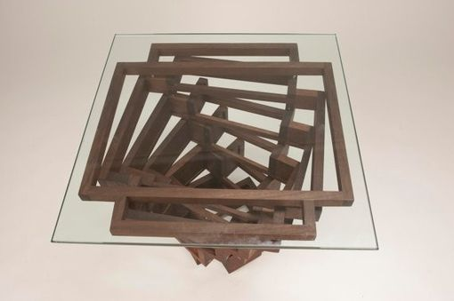Custom Made Spiral End Table Or Coffee Table