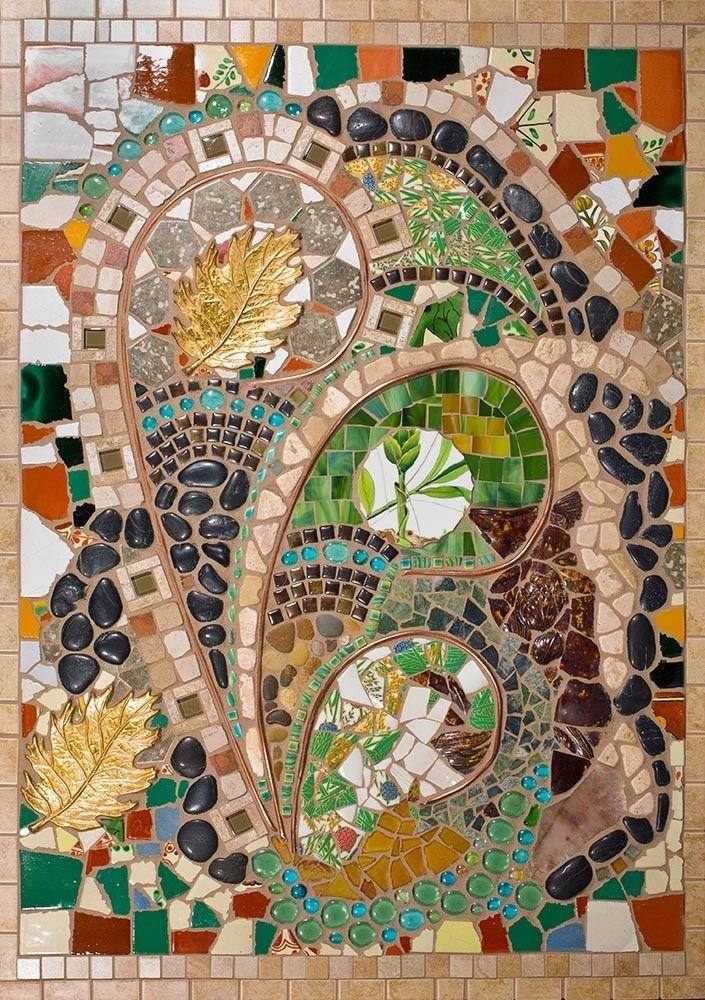 Hand Made Mixed Media Mosaic Wall Art By Tina Shoys