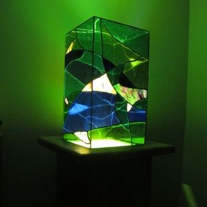 Custom Made Dolphin Dance Light Vessel