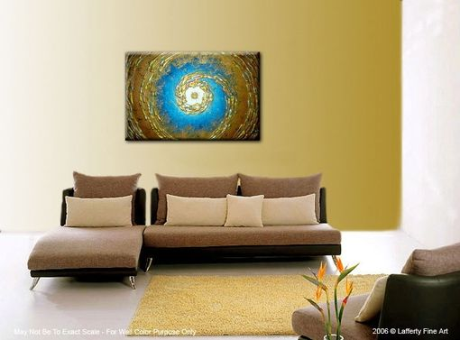 Custom Made Original Xlarge Painting, Modern Abstract Art, Blue Gold Textured Paintings, Night Stars