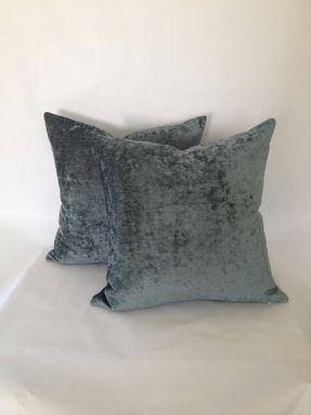 Custom Made Foggy Blue/Teal Velvet Pillow Cover
