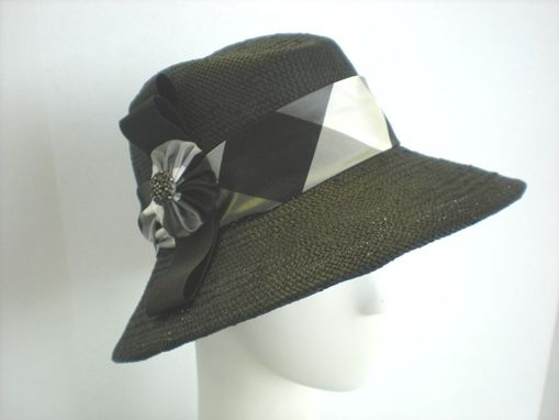 Custom Made Black Straw Fedora