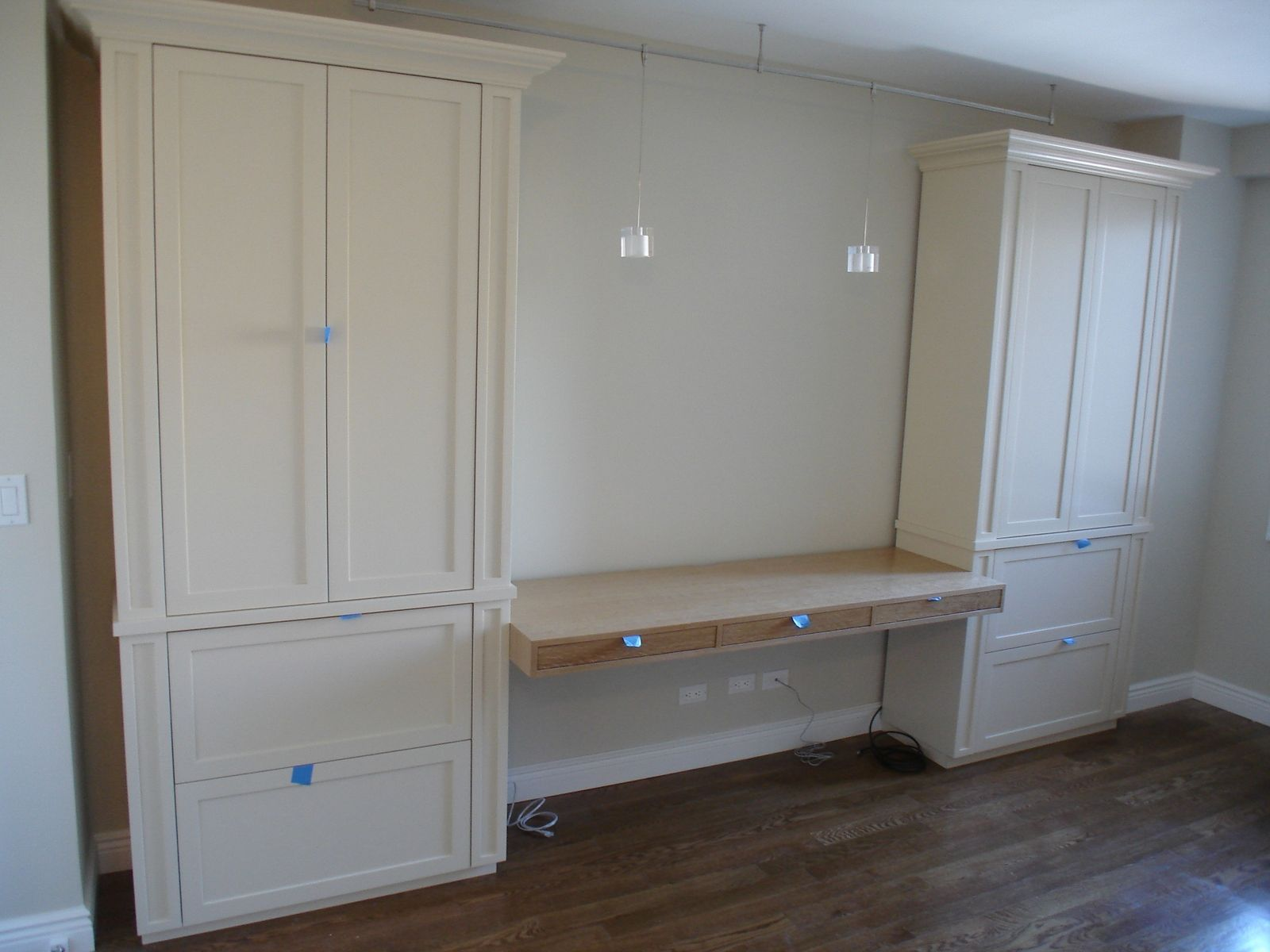 Custom Made Desk And Cabinets