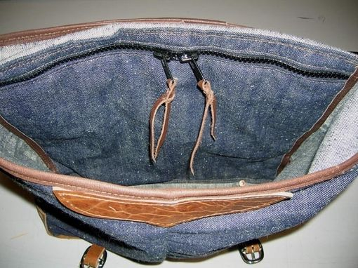 Custom Made Denim Rucksac Bag