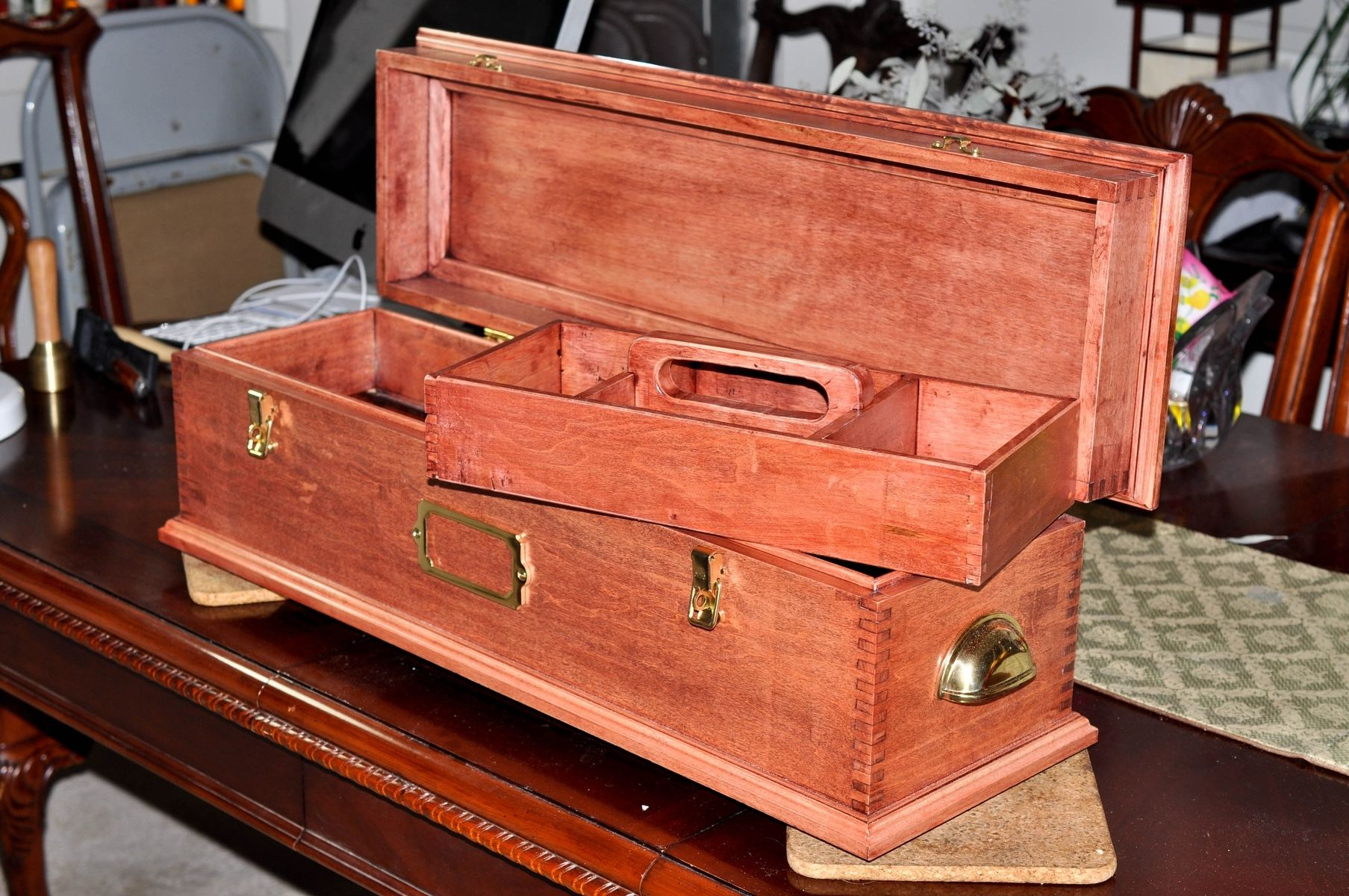 Custom Made Old Timey Carpenter S Tool Box By Gadell