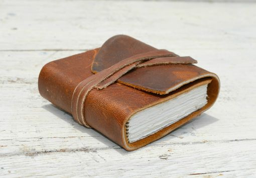 Custom Made Handmade Leather Bound Pocket Notebook Mini Travel Diary Art Sketch Book