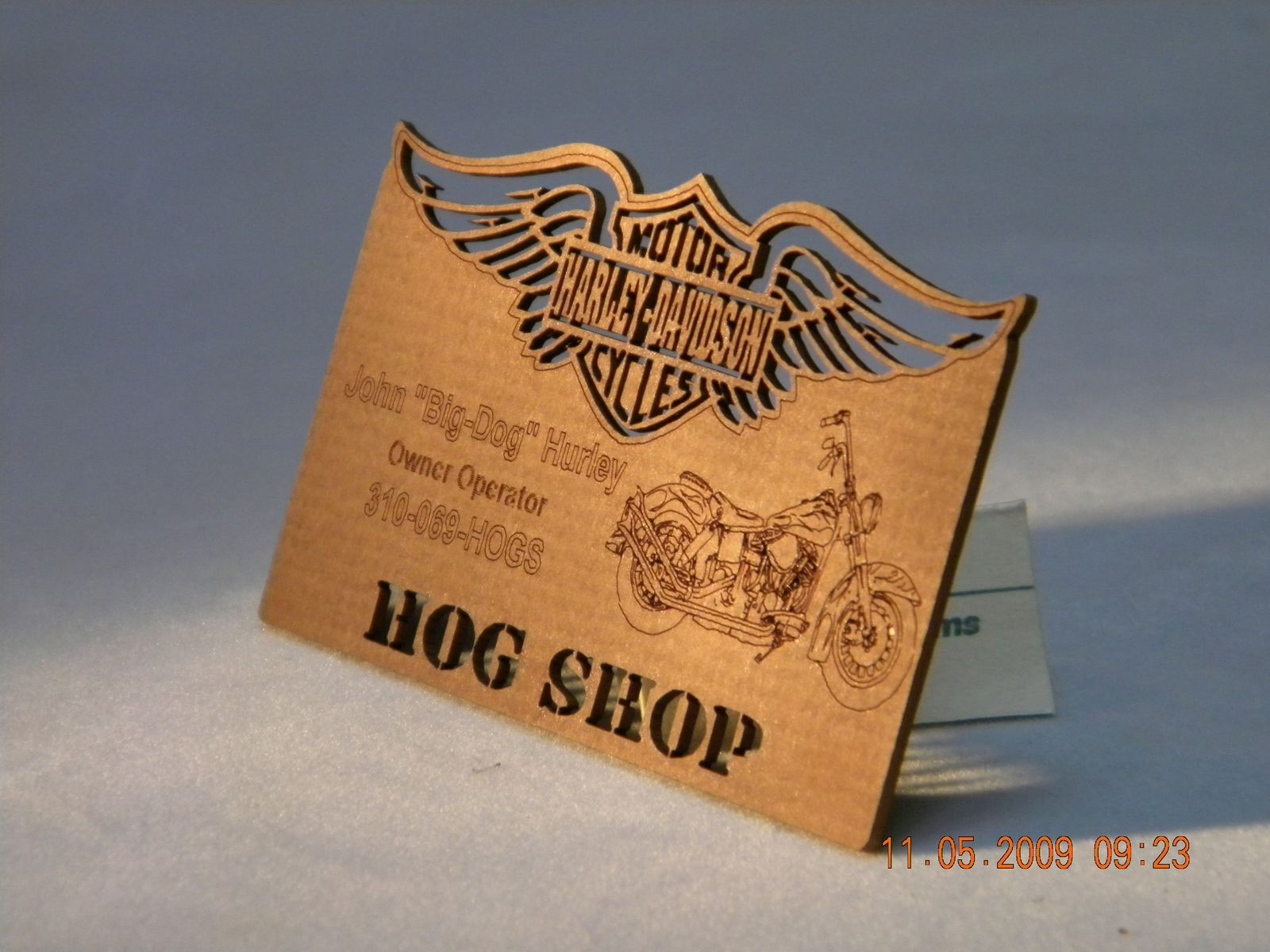 custom laser cut business cards by green tree jewelry heavy