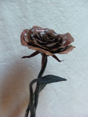 Custom Made Copper Rose