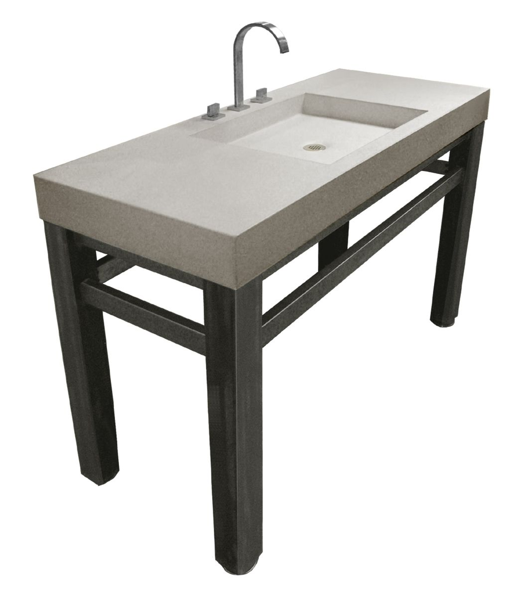 Hand Made Concrete Sink 48 Quot By Trueform Concrete
