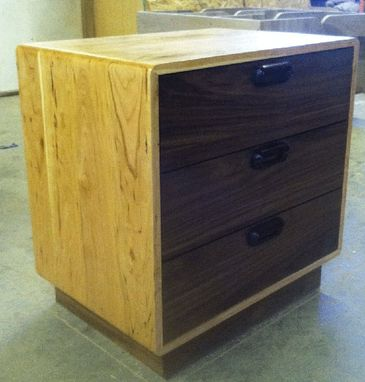 Custom Made 3 Drawer Danish Modern Nightstand (Item # 3d646)