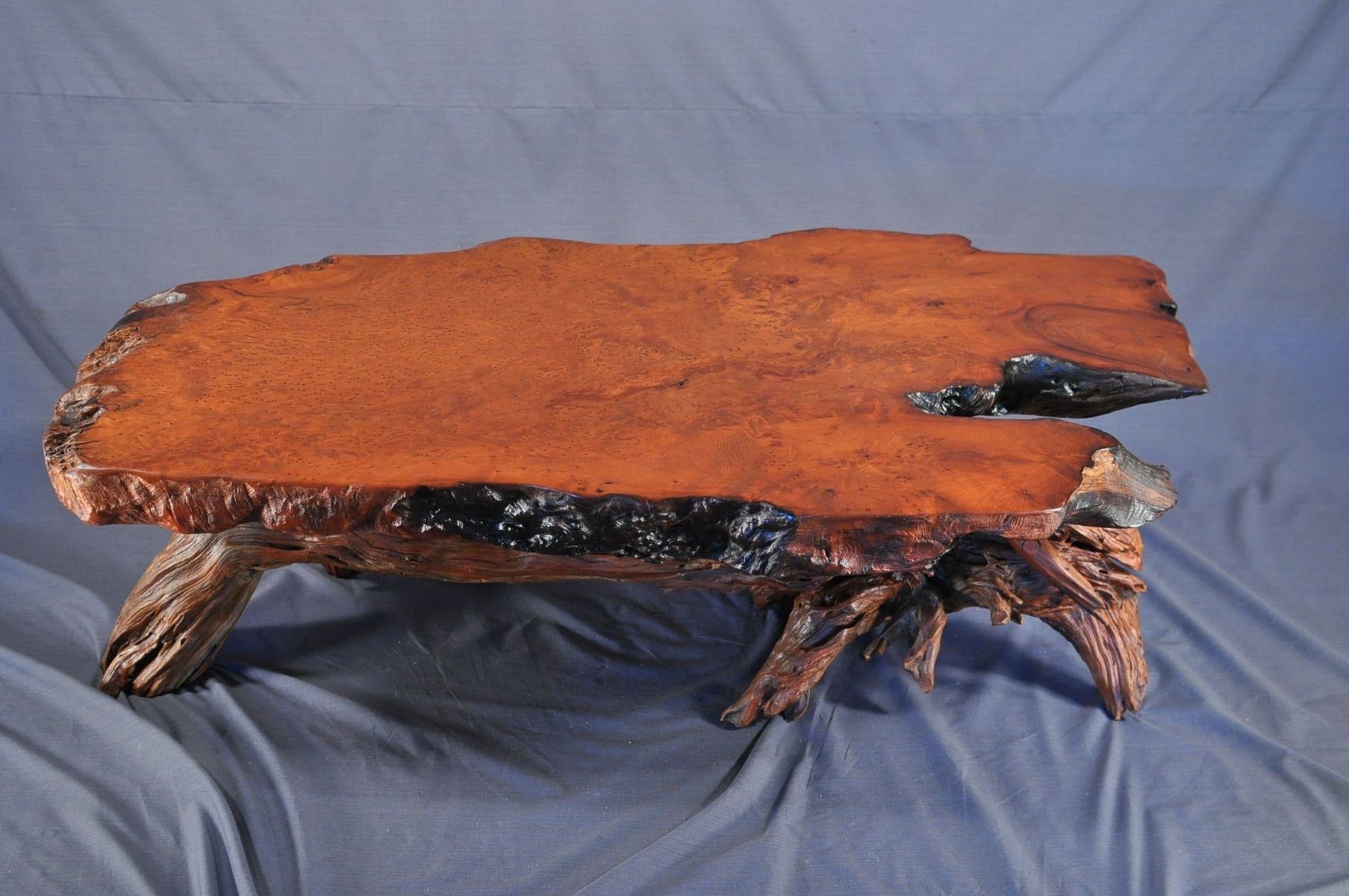 Handmade Redwood Coffee Table By Driftwood Decor CustomMadecom - Redwood side table