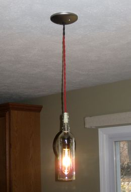 Custom Made Wine Bottle Pendant Light