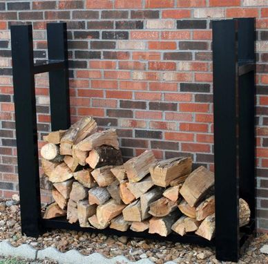 Custom Made Black Powder Coated Aluminum Firewood Rack