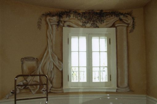 Custom Made Trompel'oeil  Bath Mural