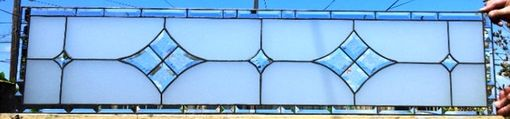 "Custom Made Stained Glass Panel - ""Beveled Stars"" (W-50)"