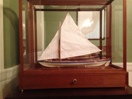 Custom Made Custom Glass Display Case For Ship Model