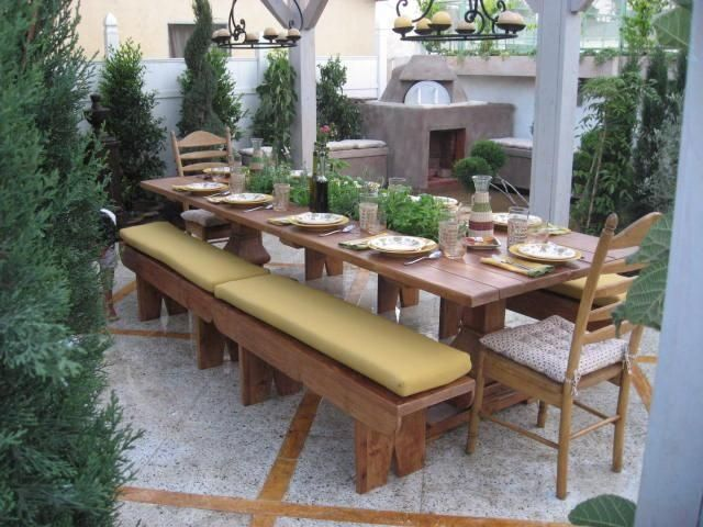 Custom Made Dining Table With Built In Herb Garden By