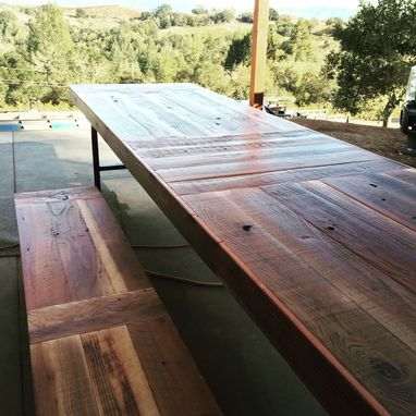 Custom Made Reclaimed Wood Vineyard Table
