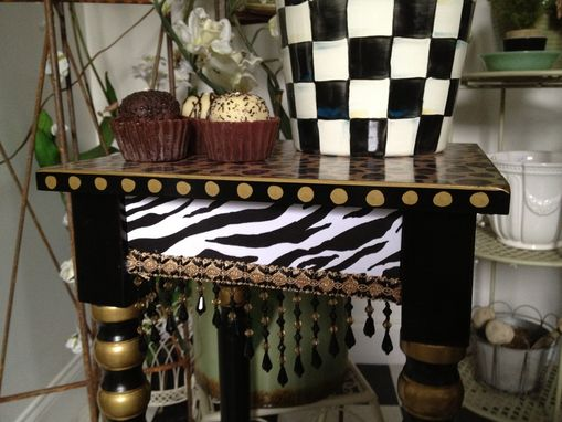 Custom Made Animal Print Table Hand Painted African