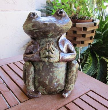 Custom Made Sculpted Ceramic Animals - Frogs
