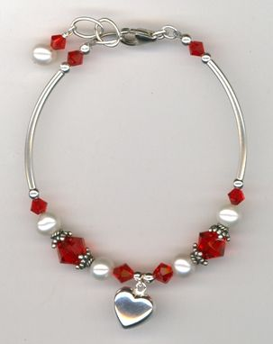 Custom Made Revel In The Love ~ Swarovski Crystal Pearl Sterling Silver Bracelet