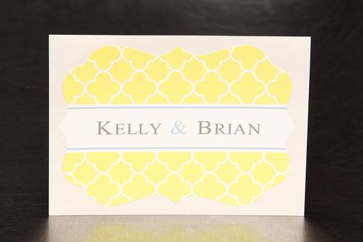 Custom Made Custom Wedding Stickers Die Cut - Clover Pattern - Guest Bag Labels